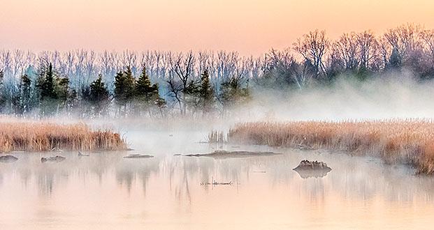 Misty Otter Creek At Sunrise DSCN06038-40