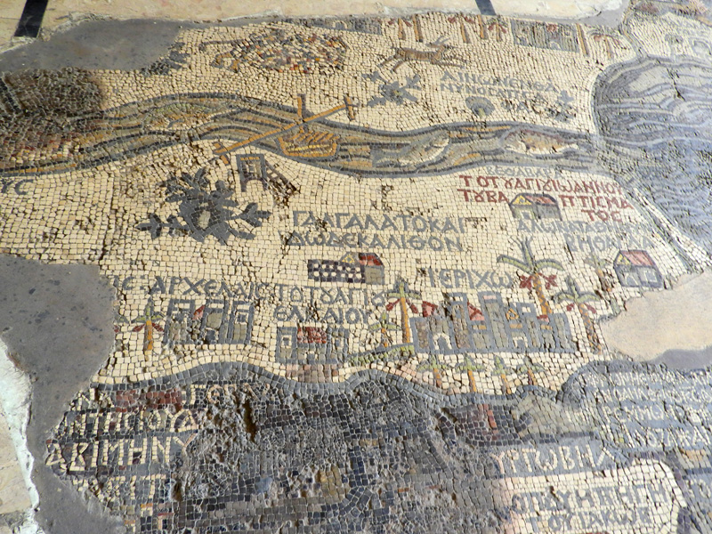The Map of Madaba dated 6th Century AD
