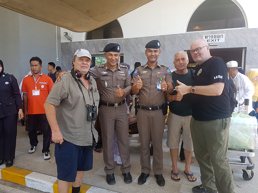 Posing with tourist police