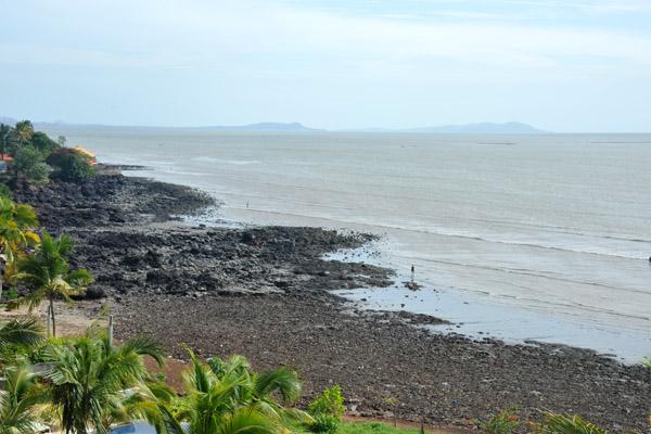 Volcanic coast of Conakry near the Sheraton