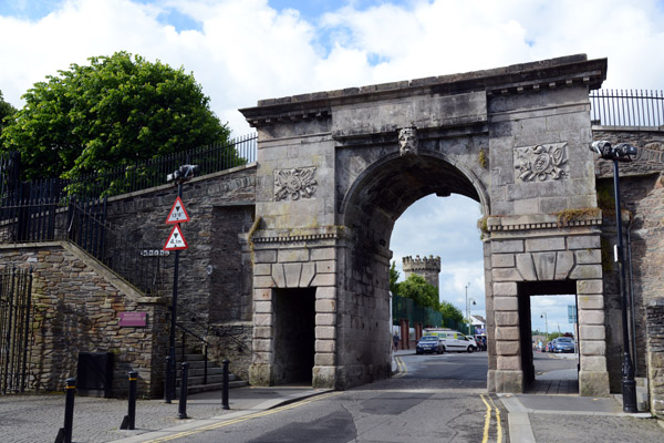 Bishops Gate, the original replaced with this Triumphal Arch in 1789