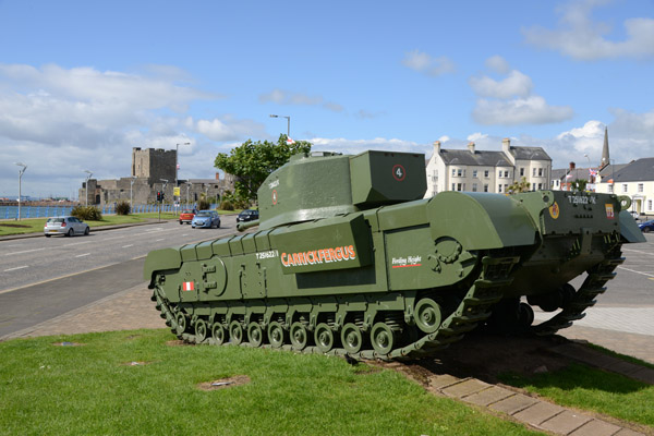Churchill Mark VII Tank, Carrickfergus War Memorial