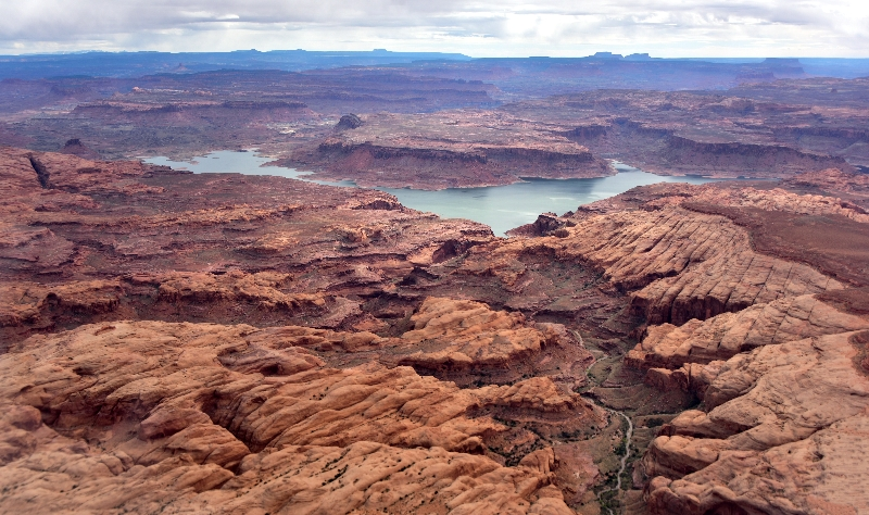 Ticaboo Creek Ticaboo Mesa Lake Powell Red Rock Plateau Glen Canyon Utah 300