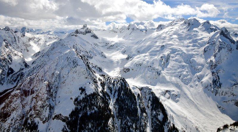 Dome Peak Chickamin Glacier Gunsight Peak Blue Glacier North Cascades Mountain 359