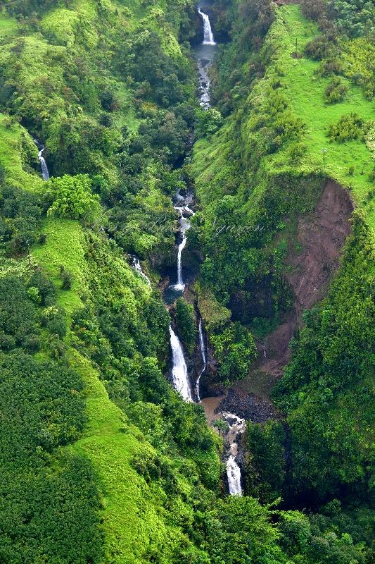 Waterfalls on Hanawi Stream below Hana Highway, Maui, Hawaii 189