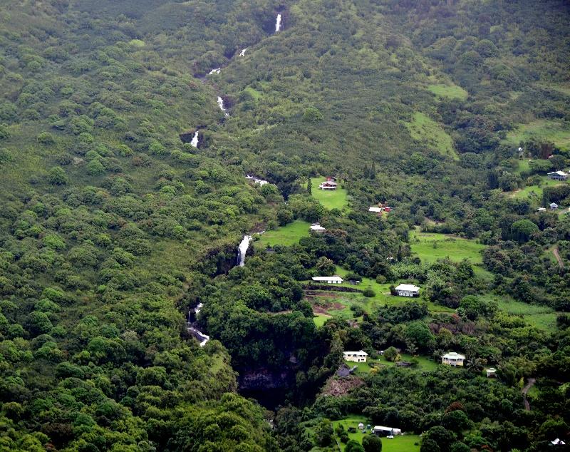 Waterfalls on Waiohonu Stream, Puuiki, Maui, Hawaii 357