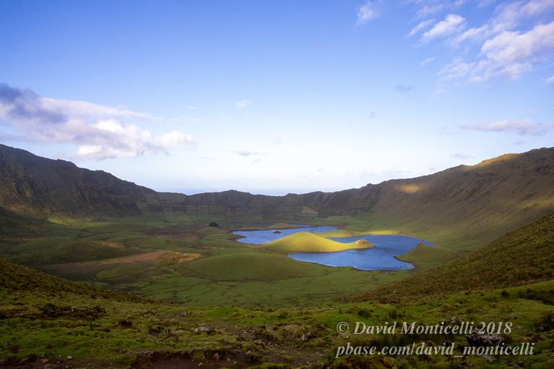 Top view of the Caldeira on Corvo Island