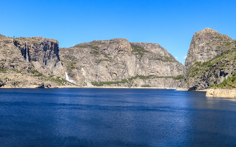 Hetch Hetchy Valley from the O'Shaughnessy Dam in the Hetch Hetchy Valley of Yosemite NP