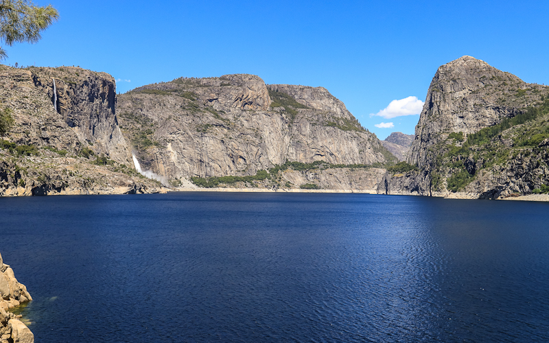 Hetch Hetchy Valley as seen from the Wapama Falls Trail in the Hetch Hetchy Valley of Yosemite NP