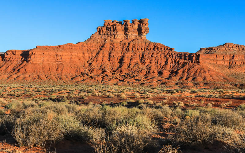 The Seven Sailors formation in Valley of the Gods