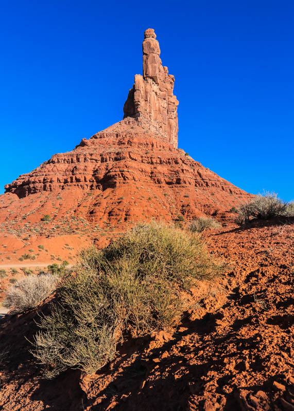 Front view of Stagecoach Rock in Valley of the Gods