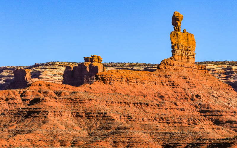 Balanced Rock on the west side in Valley of the Gods