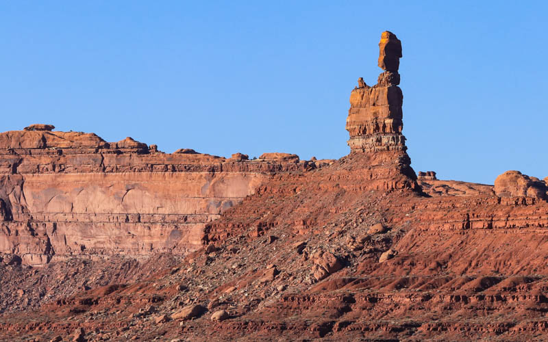 Balanced Rock in the early evening in Valley of the Gods