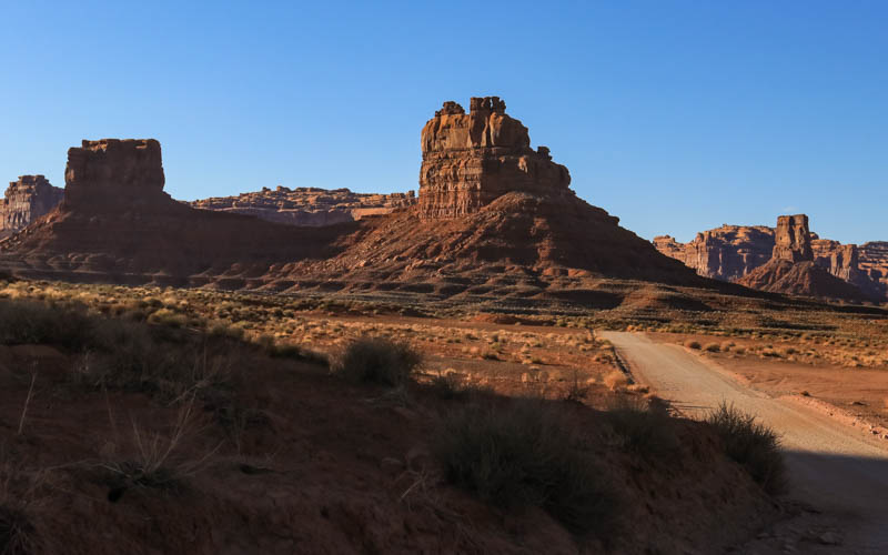 Sunset paints the landscape in Valley of the Gods