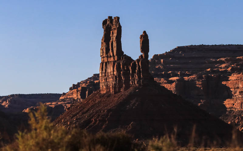 De Gaulle and His Troops formation just before sunset in Valley of the Gods