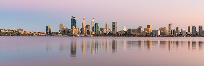 Perth and the Swan River at Sunrise, 19th February 2019