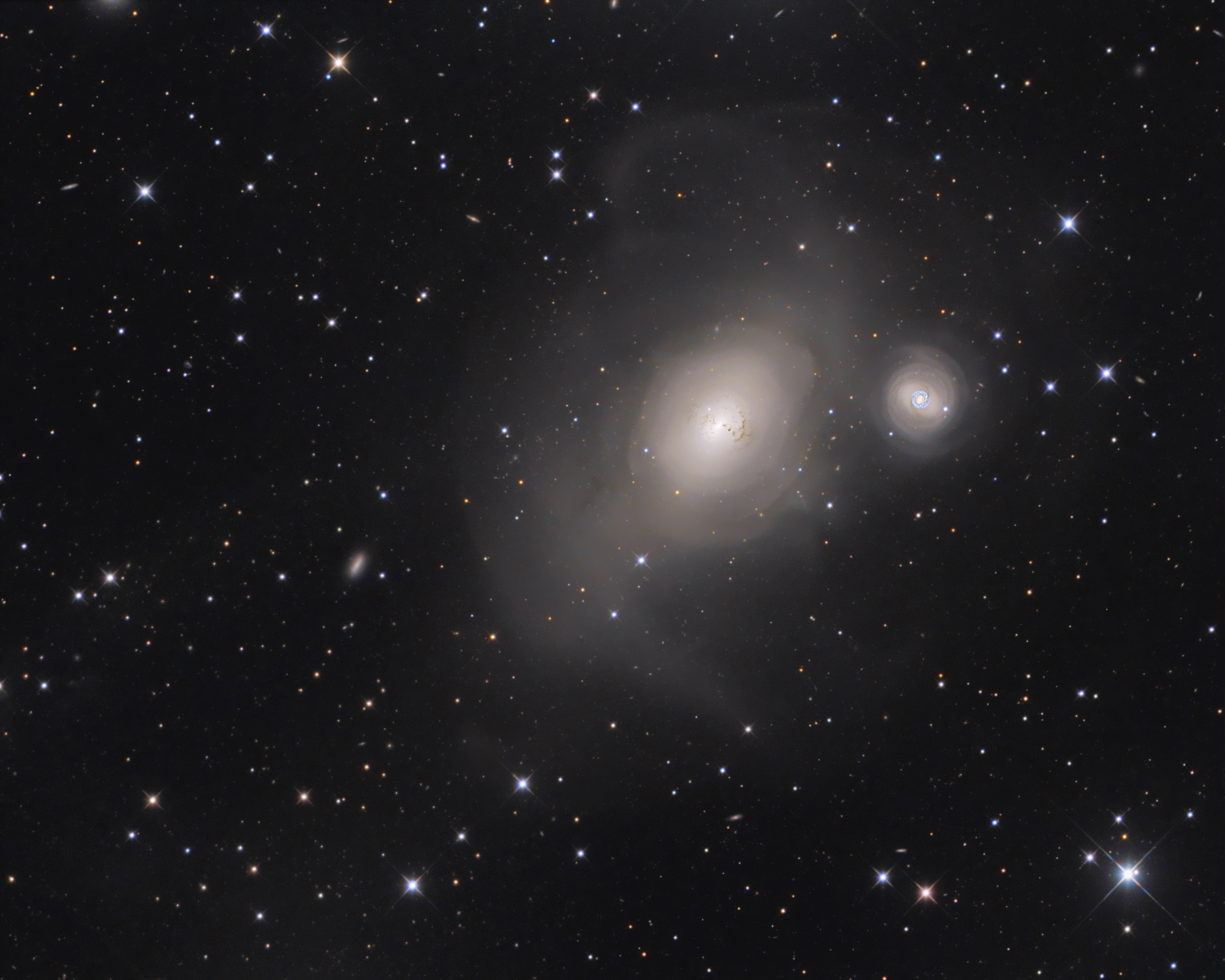 NGC 1316 Interacting Galaxies in Fornax