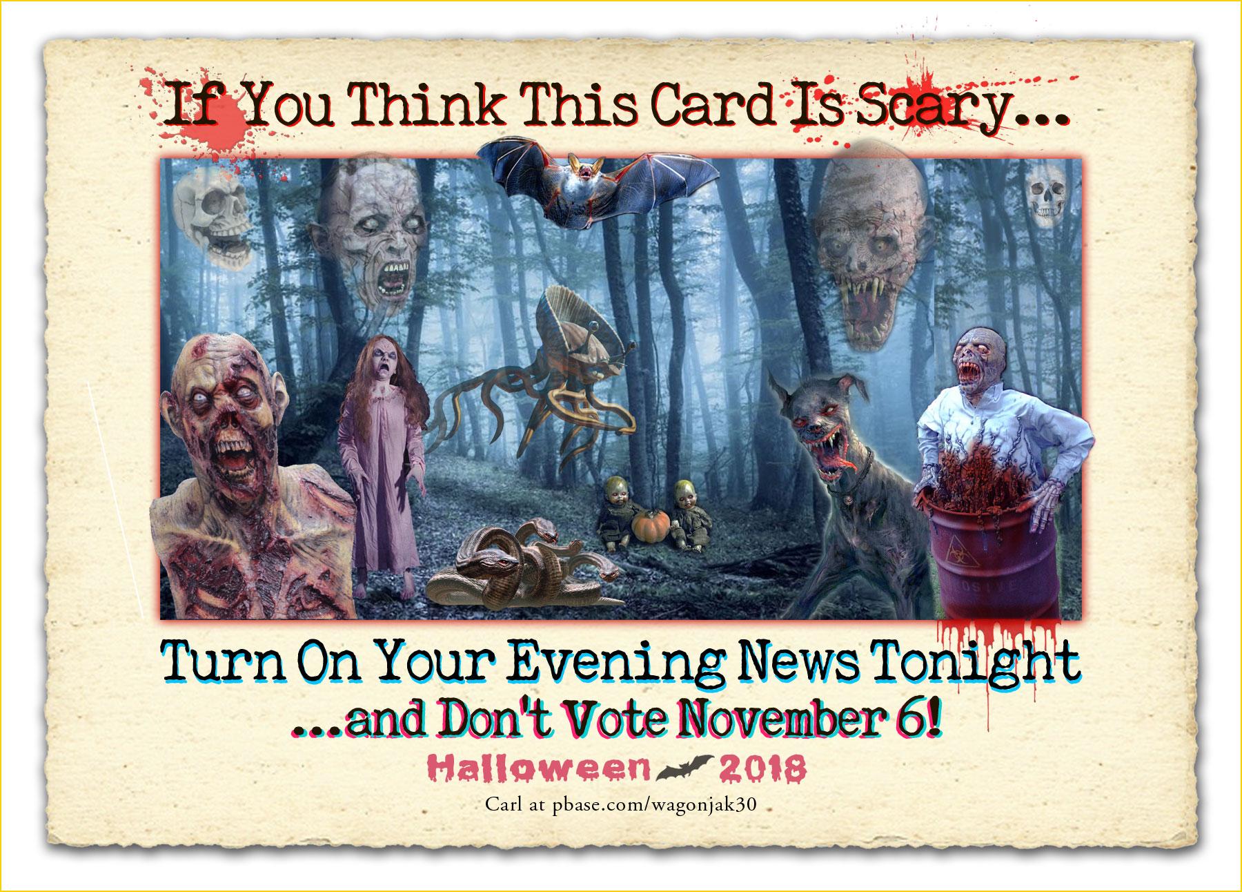 Scary Halloween Postcrd