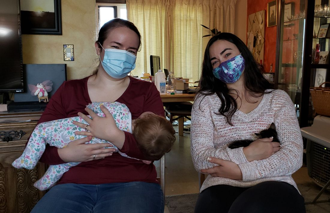 Meagan and Chloe visiting
