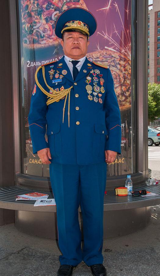 Full dress uniform! Ulaanbaatar, Mongolia