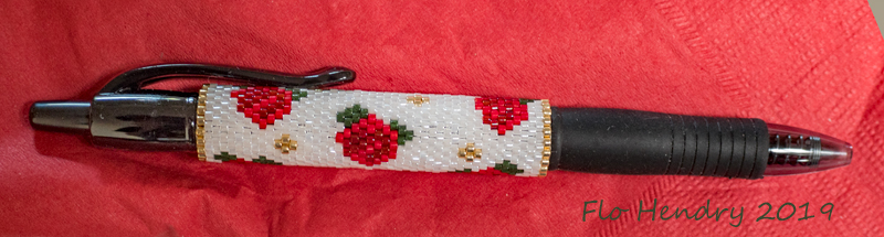 Red Roses Pen Wrap - gift