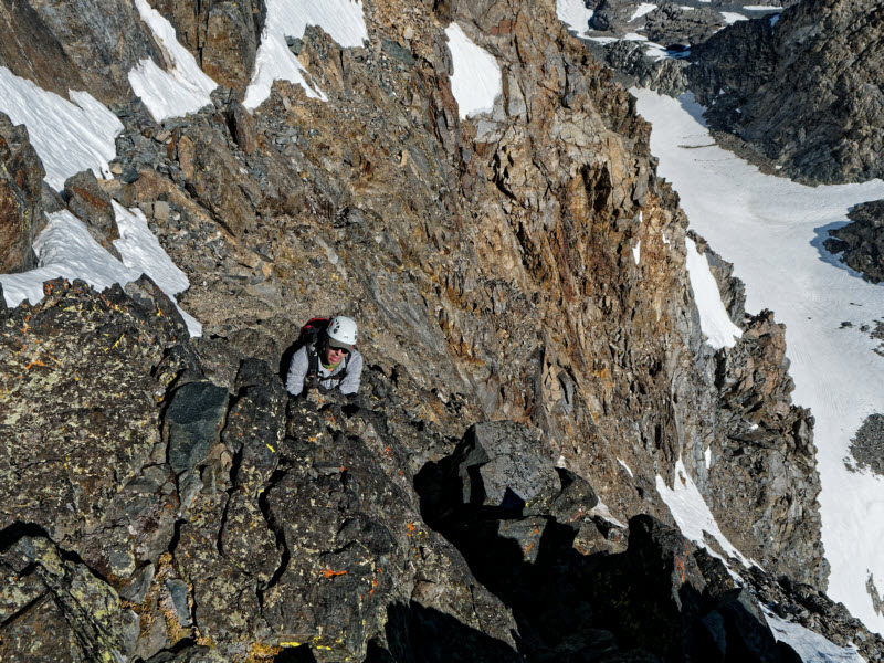 High on Mt Ritter N-face