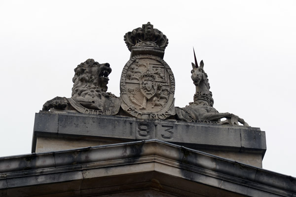 British coat-of-arms atop the Londonderry Courthouse, 1813
