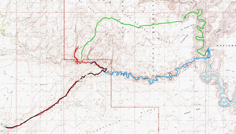 2nd HIKE map Hurricane Wash- Bobsway-Escalante-Coyote