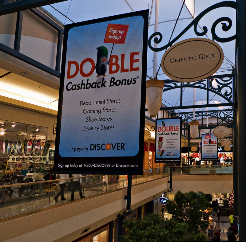 December Challenge: Circles, Rectangles and Triangles - Mall Signs