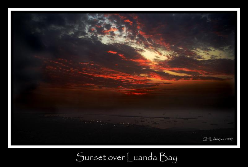 Sunset over Luanda Bay