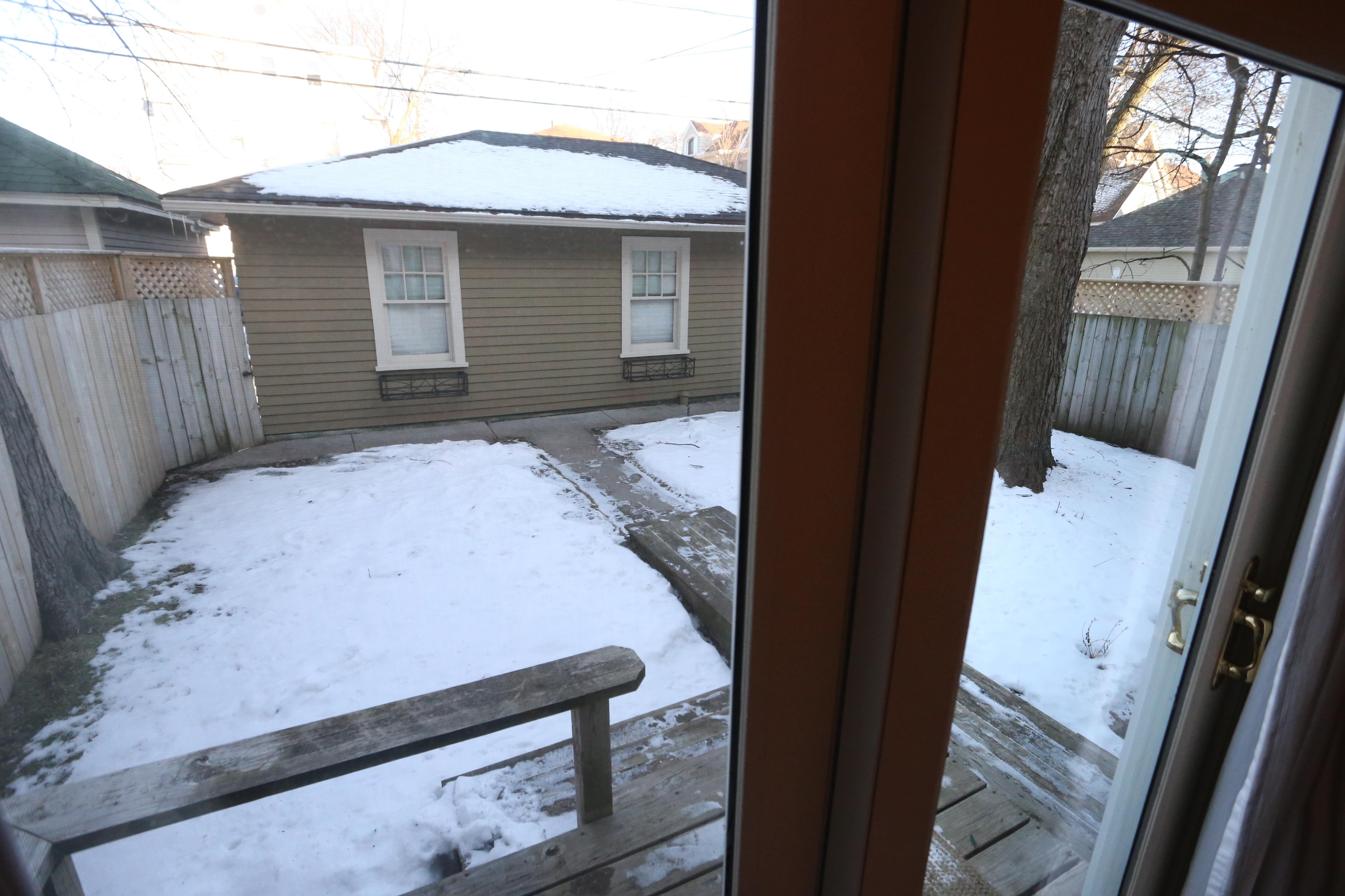 backyard from patio room