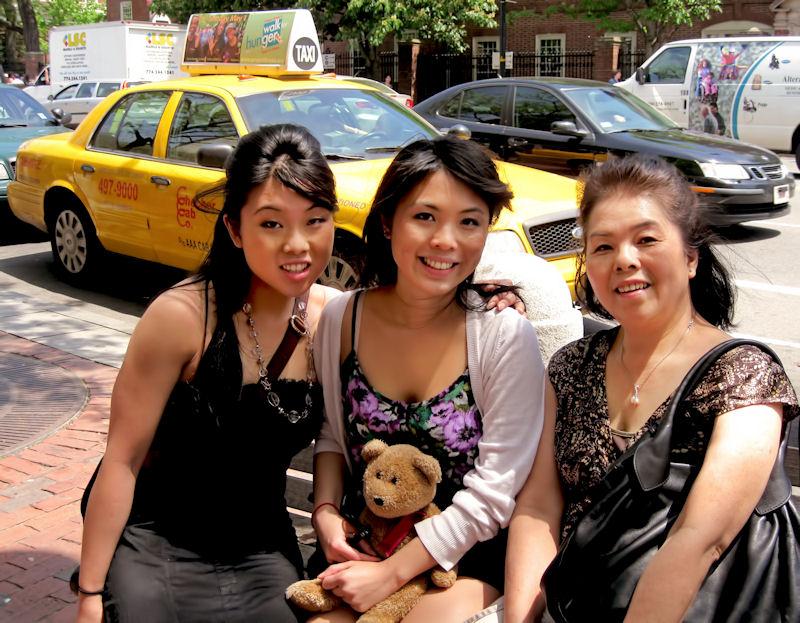 With Tiffanys family...