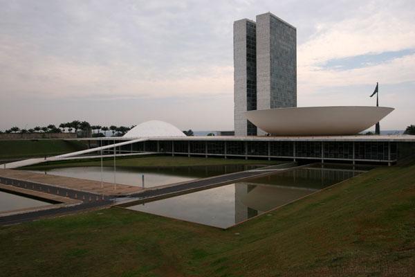 Vista Panoramica del Edificio del Senado y Congreso