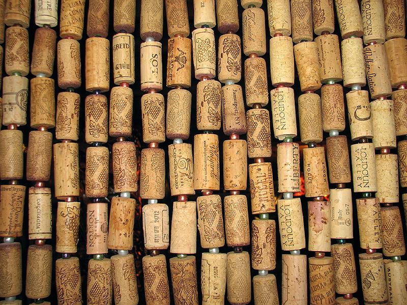 Wine cork door curtain for Wine cork welcome mat