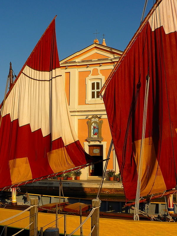 Old sails, old churches