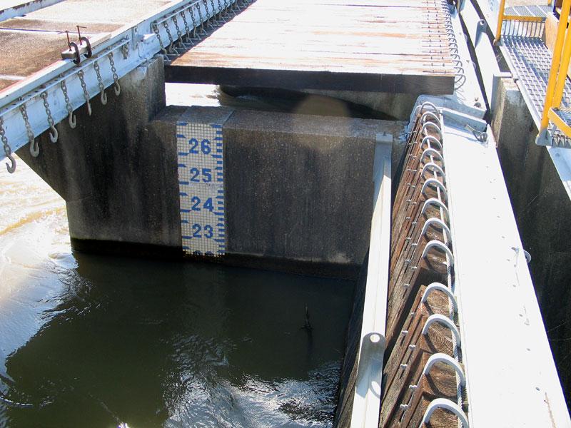 Spillway Gauge - April 30, 2008