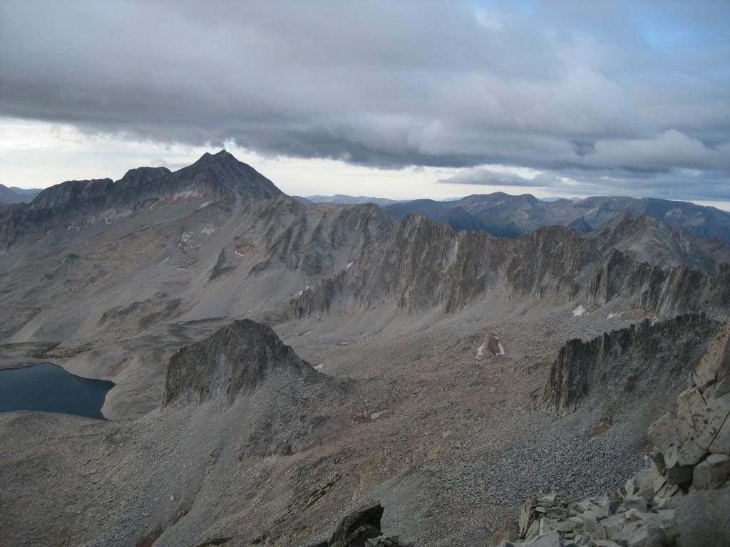 Viewer Correction: Snowmass Mountain (14,092,), NOT Ridgeline to Clark Peak, From Below Summit of K2