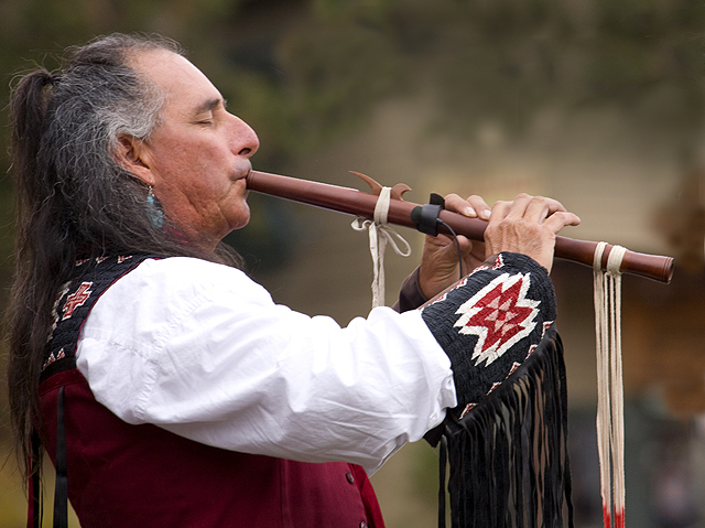 Playing A Haunting Native American Melody-Estes Park, Colorado