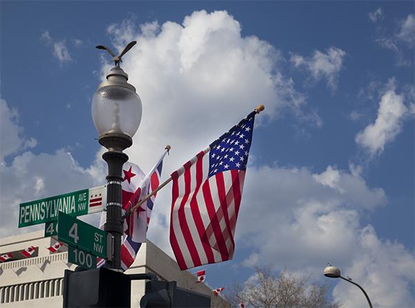Flags On Pennsyvania Ave.