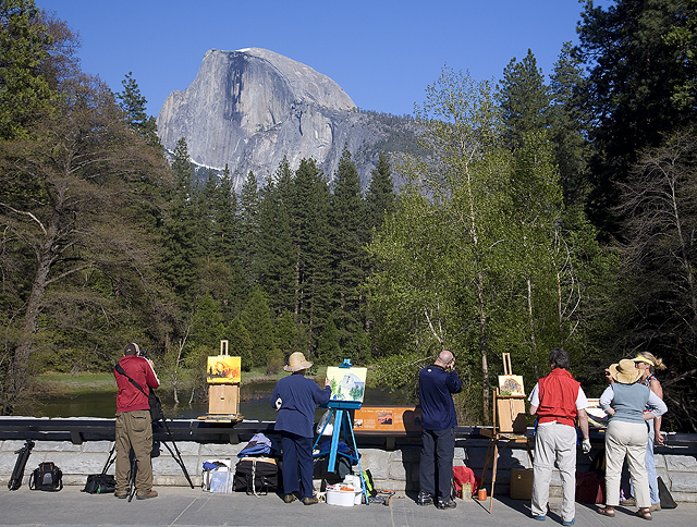 Artists and Half Dome