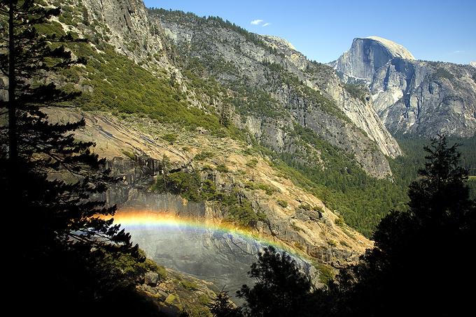 Half Dome With Rainbow