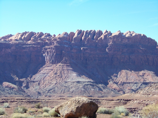 Cliffs looking over Lake Powell near Hite