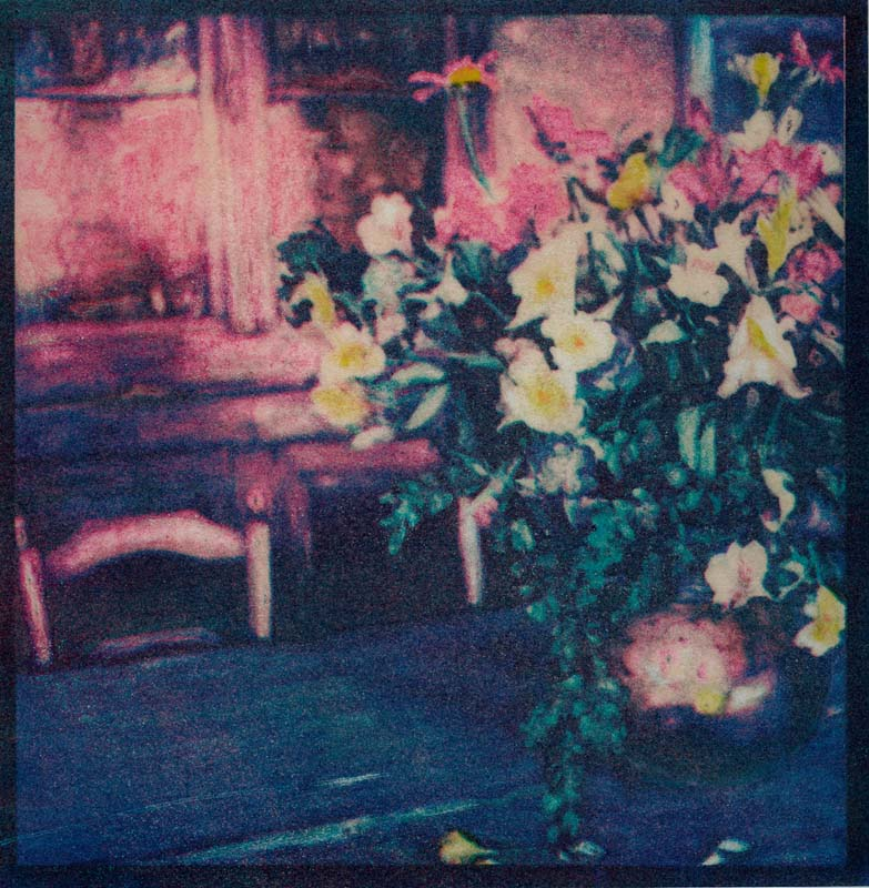 Flowers on the Table  (Tri-color gum)