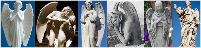 angels, demons, dragons, serpents and gargoyles