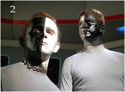 Star Trek image of duality, black and white