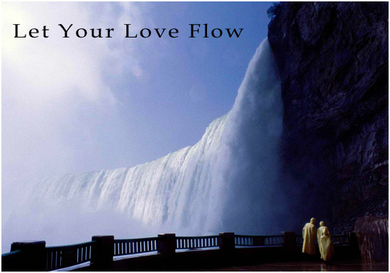 waterfall, let your love flow