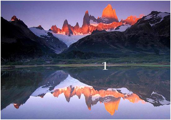 image of mountain lake reflecting, as above so below