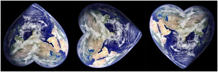 The heart of Earth, righting itself