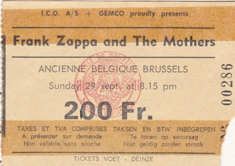 1974/09/29 Ancienne Belgique, Brussels, Belgium