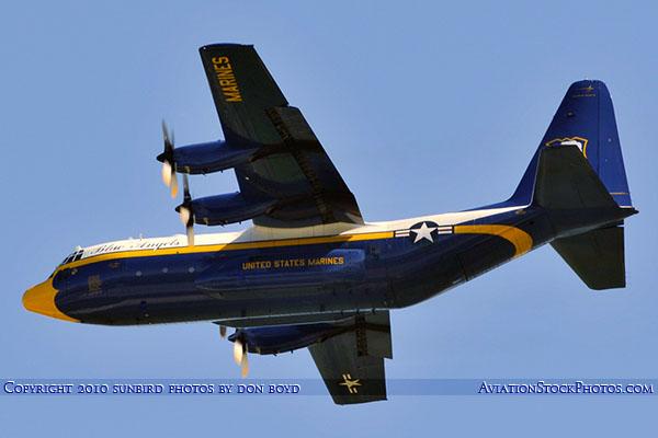 USMC Blue Angels C-130T Fat Albert (New Bert) #164763 military air show aviation stock photo #6214